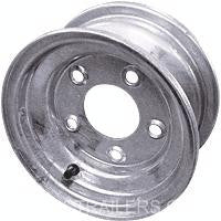 "8"" Galvanized Trailer Wheel/Rim-Solid - Pacific Boat Trailers"