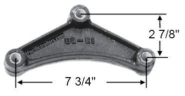 "Triangular Equalizer Rocker Bar for Double eye Springs 7 3/4"" Hole Centers - Pacific Boat Trailers"
