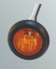 "LED Bullet Light, Amber w/grommet and lead - 3/4"" # CL-11820-A - Pacific Boat Trailers"