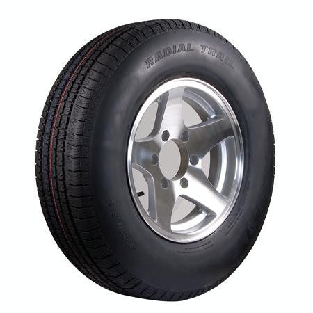 ST225/75R-15D Aluminum Wheel & Radial Tire (6-Lug) - Pacific Boat Trailers