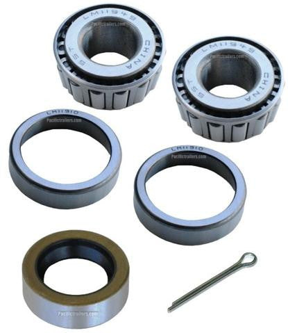 "Trailer Bearing Kit, 3/4"" Spindle, LM11949 Inner/Outer Bearings, 11174TB Seal - Pacific Boat Trailers"