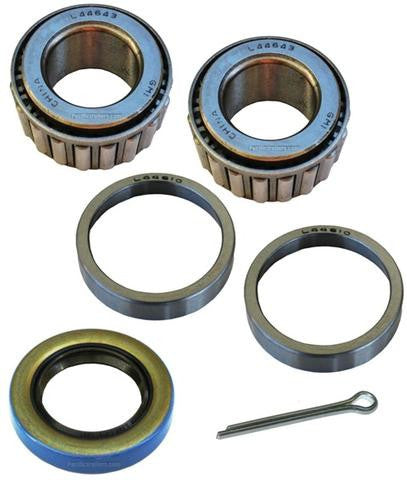 "Trailer Bearing Kit, 1"" Spindle, L44643 Inner/Outer Bearings, 12192 Seal - Pacific Boat Trailers"