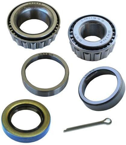 "Trailer Bearing Kit, 1 1/16"" x 3/4"" Spindle, L44649/LM11949 Bearings, 12192 Seal - Pacific Boat Trailers"