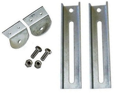 "Boat Trailer Bunk Bracket Kit, 9"" Slotted/Galvanized - Pacific Boat Trailers"