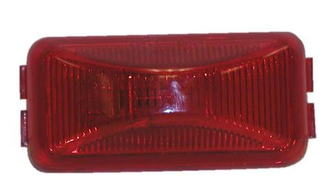 Rectangular LED Trailer Clearance, Side Marker Light, 3 diode-red #AL91RB - Pacific Boat Trailers
