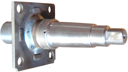 "Trailer Axle Spindle, Tapered for 1 3/8"" x 1 1/16"" bearings, 2900-3750lb Axles UFP 33681 - Pacific Boat Trailers"
