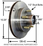 "UFP, DB-42 Zinc Plated Hub/Rotor, 5 on 4.5""-3.7K, 10.25D. #41035"