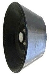 "3"" Diameter End Cap for Trailer Bow Rollers, 1/2"" hole # NSC-434-B - Pacific Boat Trailers"