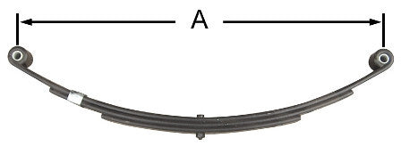 "26"" Double Eye Trailer Leaf Spring (6 Leaf) #AWS-6 - Pacific Boat Trailers"
