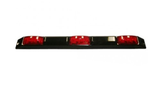 Truck, Trailer 3-Light Sealed 9 Diode LED ID Bar with Black Base #87120-D