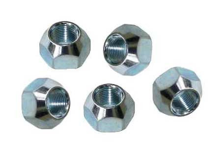 Trailer Lug Nuts 1 2 Quot 20 Thread Zinc Plated 5 Pack