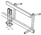 Boat Trailer Guides Kit - 5' Bunk Boards