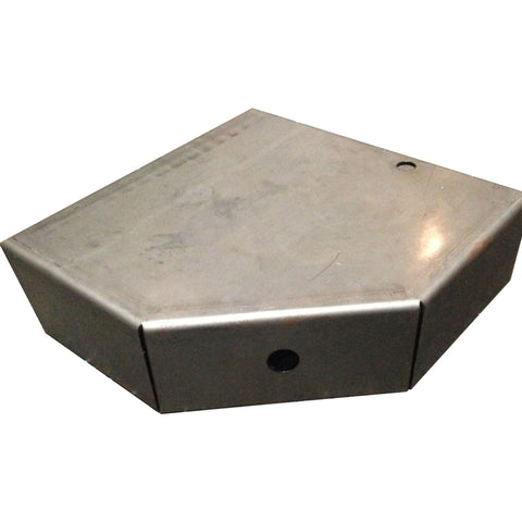 "Trailer Step Plate, Weld-On, 3"" x 10"" x 10"" x 15 degrees, LF or RR - Pacific Boat Trailers"