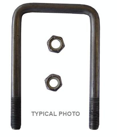 "1/2"" Square Stainless Steel Trailer U-Bolt, A=3 1/8"" B=2 3/4"" - Pacific Boat Trailers"