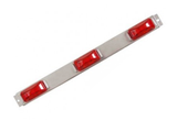 Truck, Trailer 3-Light Sealed 9 Diode LED ID Bar with Stainless Steel Base #85020-RD - Pacific Boat Trailers