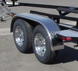 Stainless Steel Fenders, 10 x 66 (1-pair) Flat Top - Pacific Boat Trailers