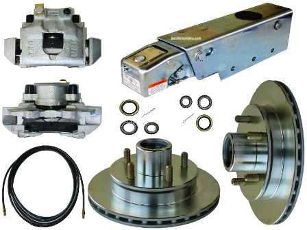 Trailer Buddy Disc Brake Conversion Kit w/ A-60 Actuator & Reverse Solenoid, 3500lb. Axle. #KIT22 - Pacific Trailers