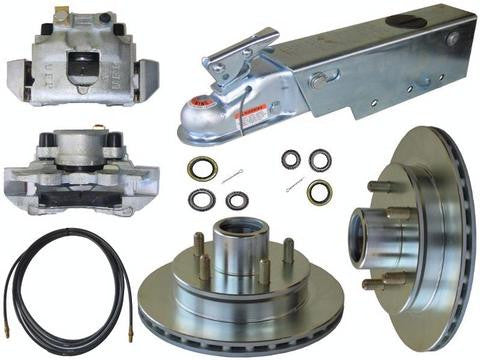UFP DB-35 Complete Disc Brake Kit w/A-75 Actuator & Reverse Solenoid, 3500lb. Axle - Pacific Boat Trailers