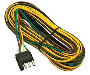 20' Wishbone Flat-4 Trailer Wiring Harness # WW70020-4 - Pacific Boat Trailers