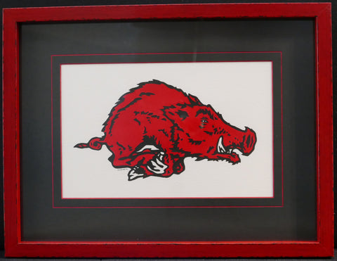 Hand Painted Razorback Watercolor