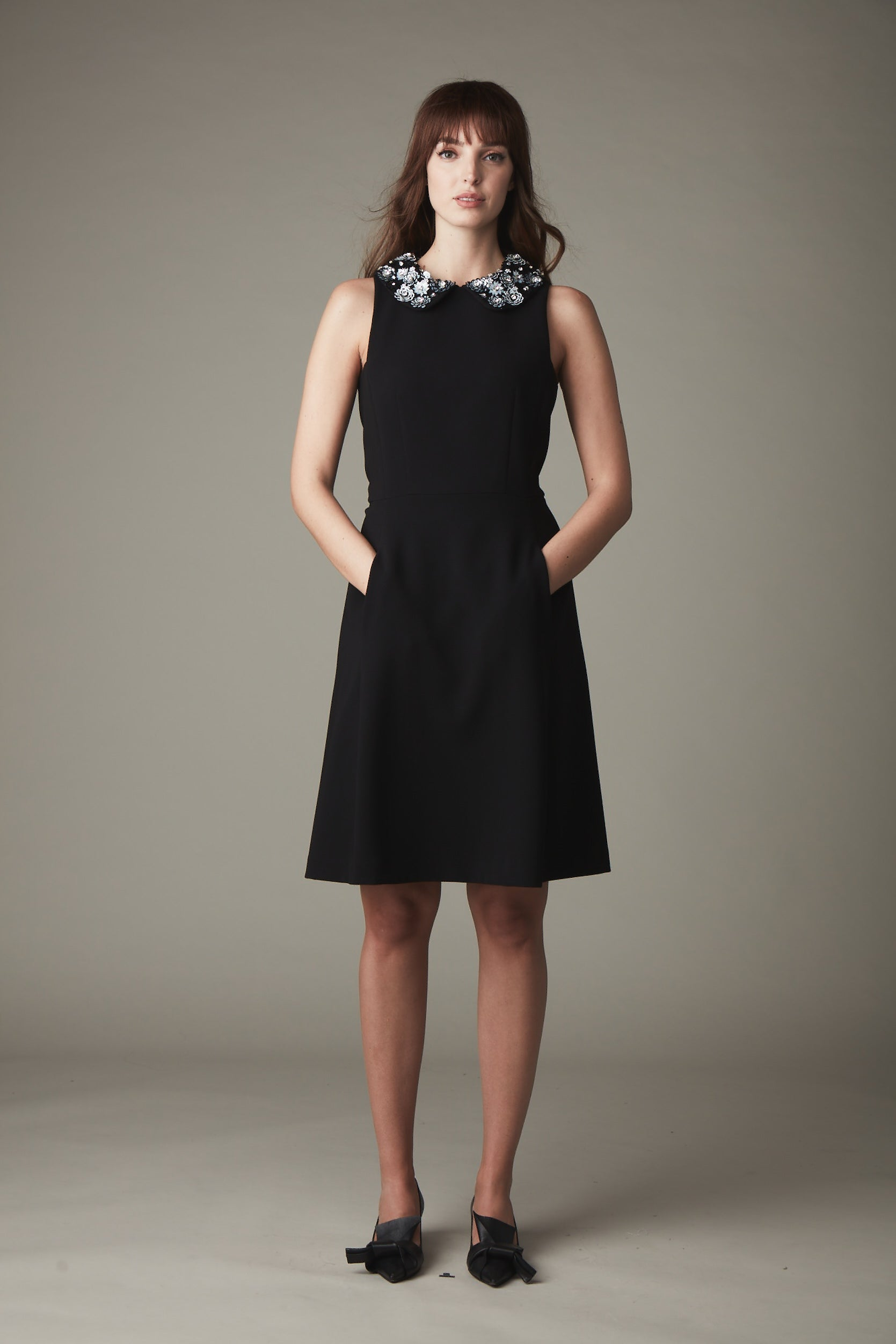 KN Sophia Collar Dress - Black