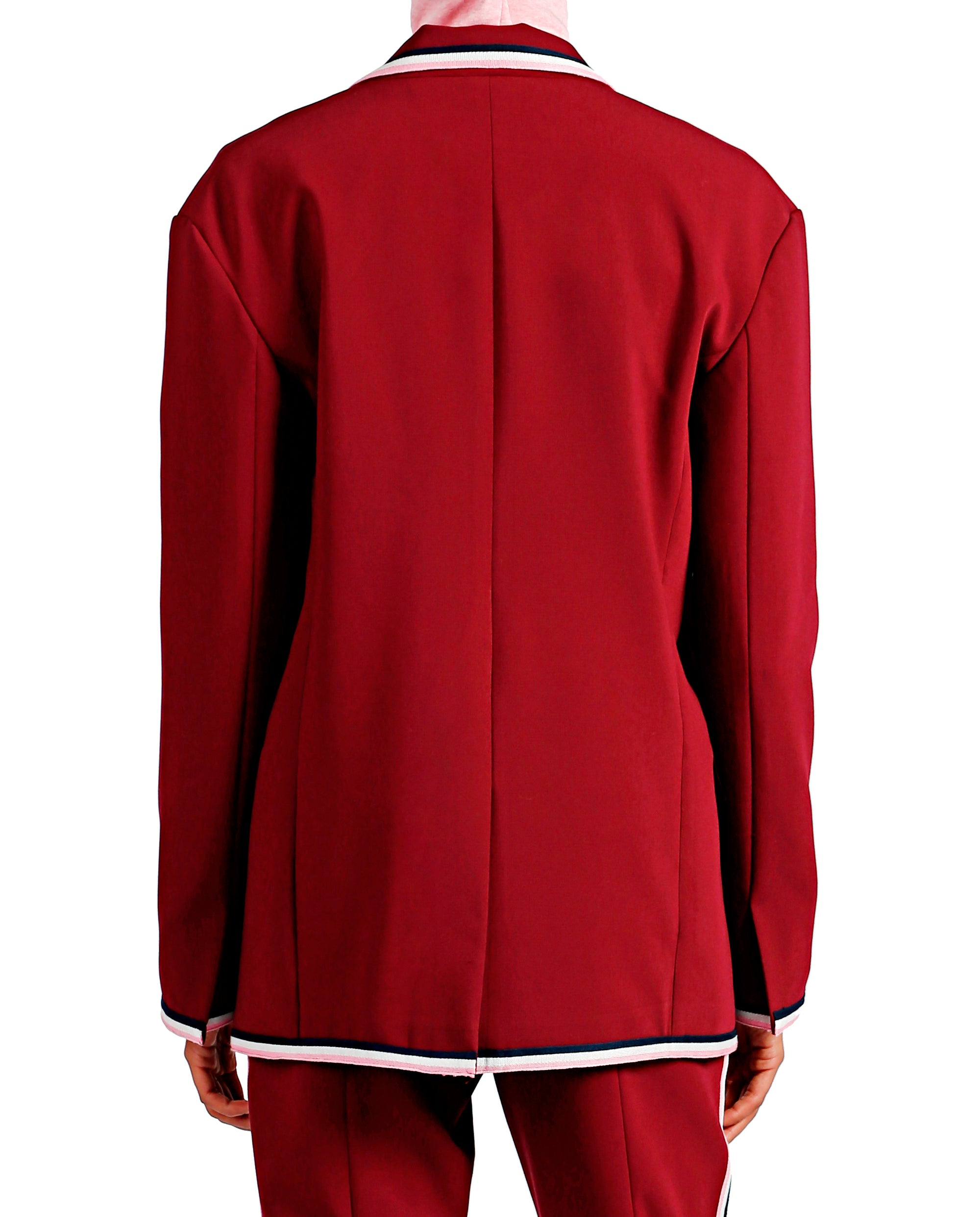 Crepe Cocktail Jacket - Wine