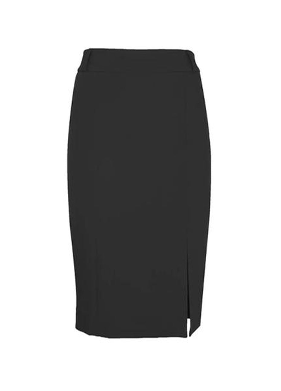 Crepe Pencil Skirt-Black