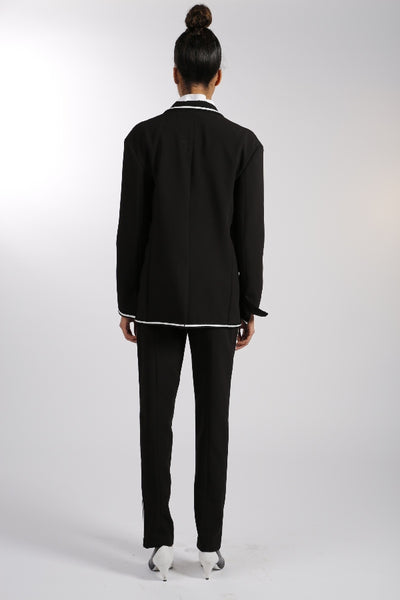 Crepe Cocktail Jacket - Black