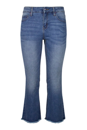 Designer Flare Jean -  Medium Wash Denim