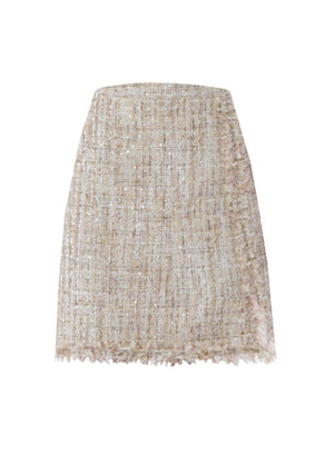 Tweed Skirt - Gold/Pink