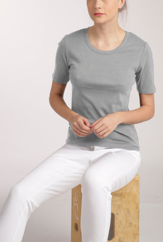 Grey Essential Crew Tee
