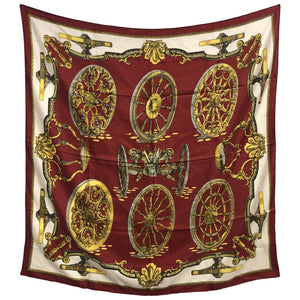 Vintage Hermes scarf Roues de Canon by Caty Latham