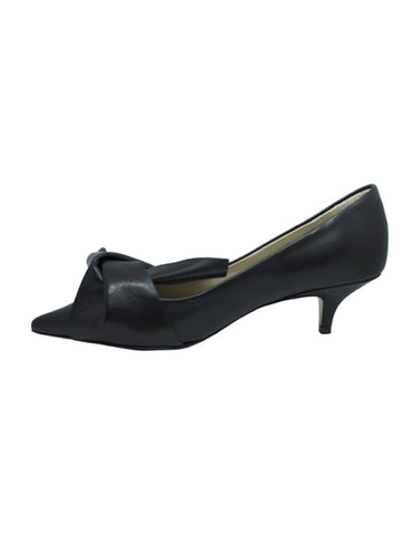 N21 Black Low Bow Heel