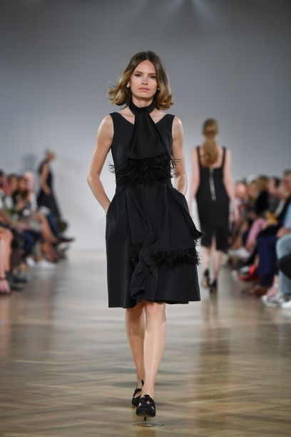 Clare Taffeta Dress - Black
