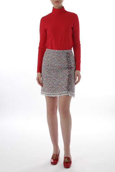 Tweed Skirt - Multi Navy