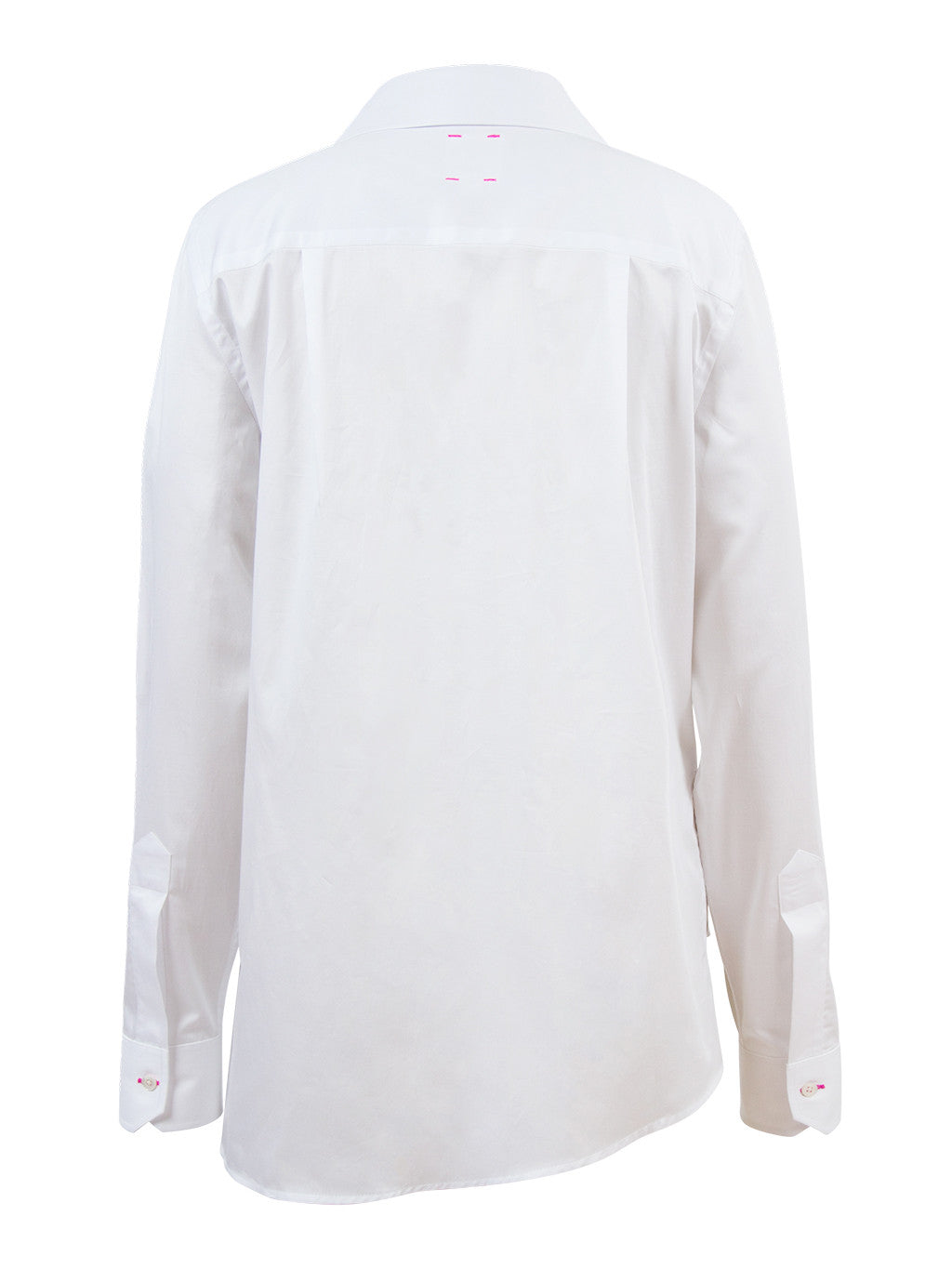 White Asymmetric Tailored Shirt