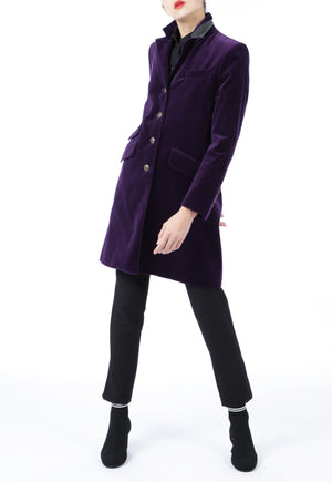Purple Velvet Coat