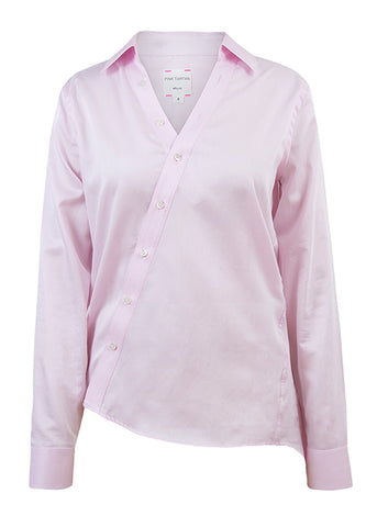 Pink Asymmetric Tailored Shirt