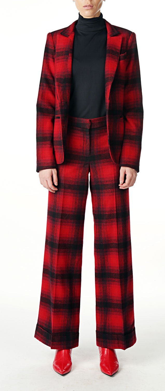 Red/Black Flannel Pant