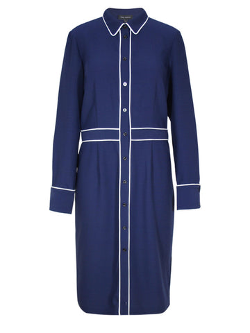 Pink Tartan - Piped Shirt Dress - Pink Tartan