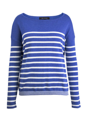 Stripe Crew Sweater - Blue/White Stripe