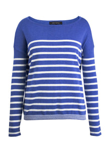 Blue/White Stripe Crew Sweater