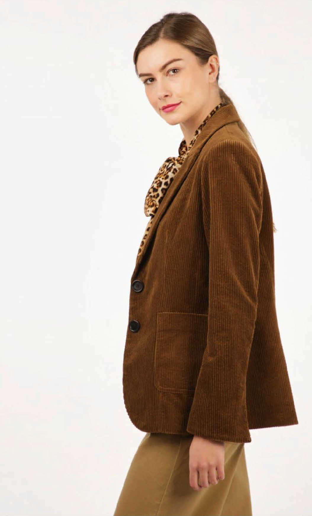 Cotton Corduroy Jacket - Brown