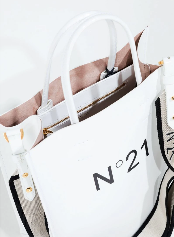 N21 White Shopping Tote Small in white
