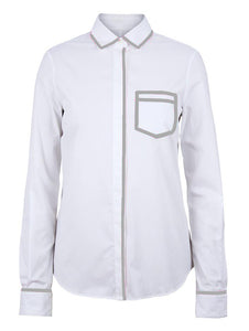 White/Grey Trompe L'oeil Shirt