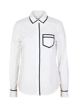 Trompe L'oeil Shirt - White/Black
