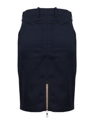 Navy Blue Twill Military Skirt
