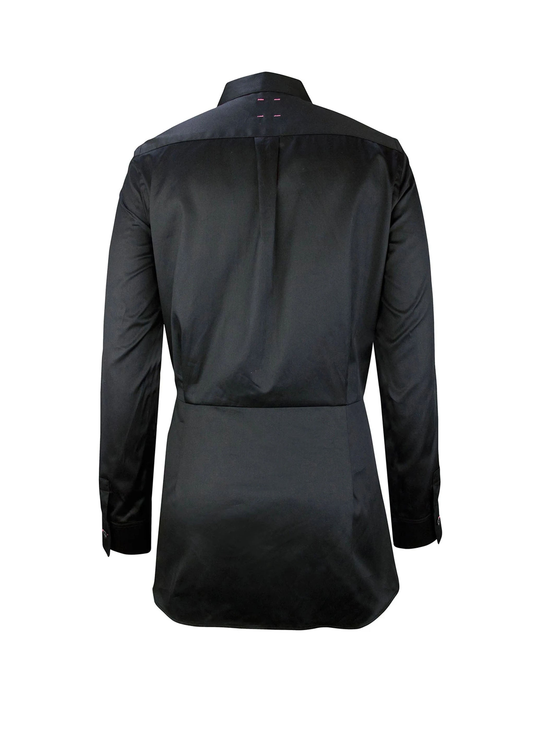 Self Tie Shirt - Black