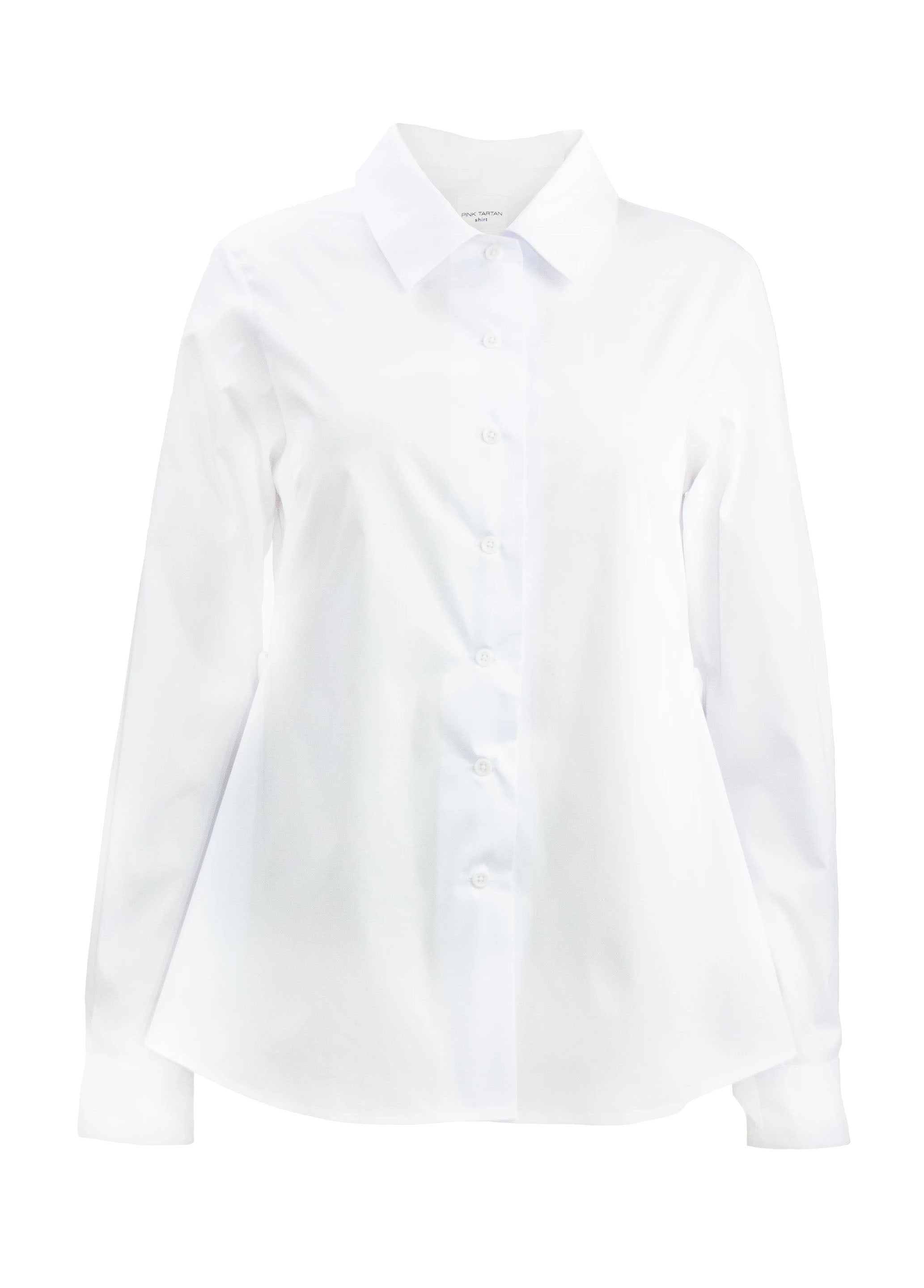 Ruffle Back Shirt - White