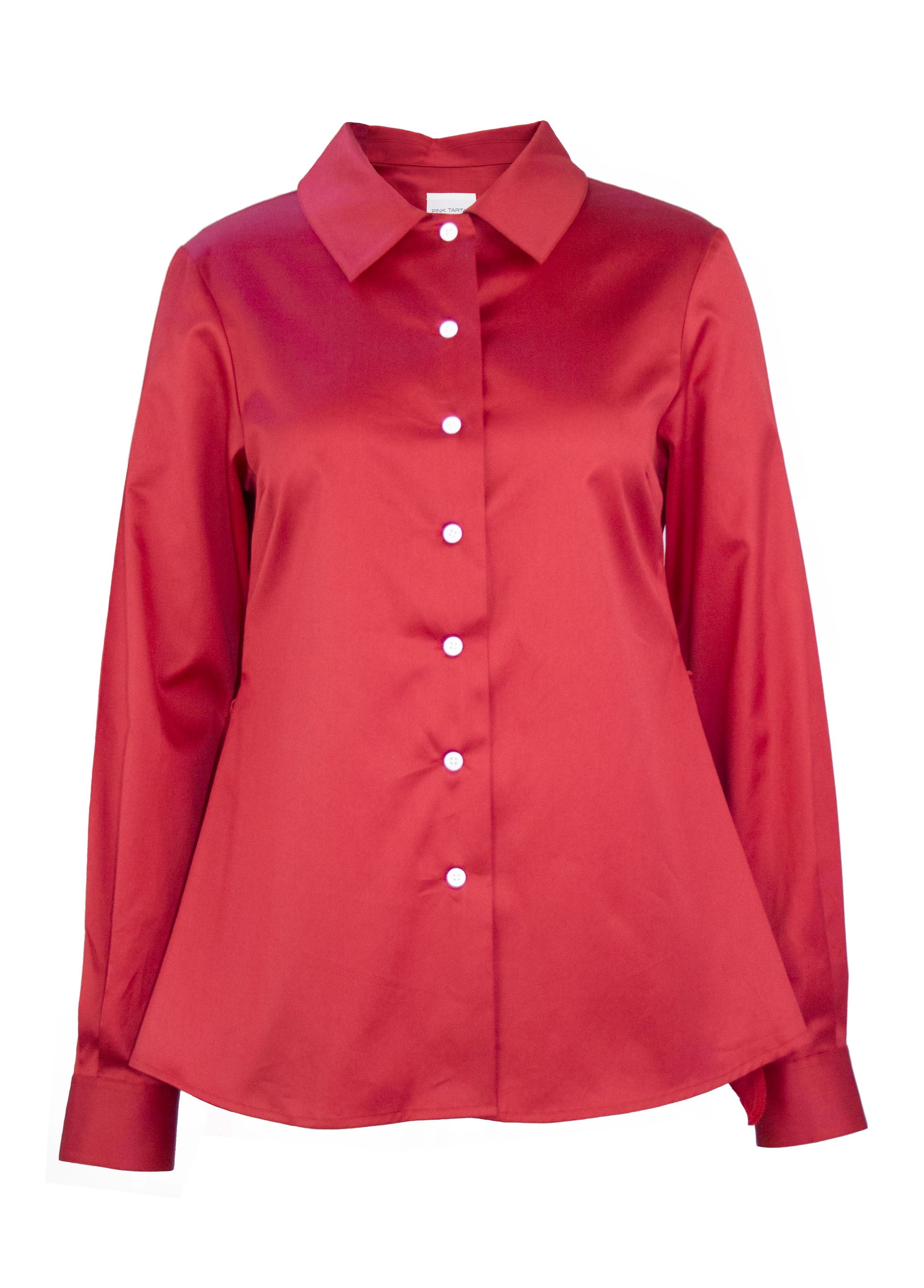 Ruffle Back Shirt - Red